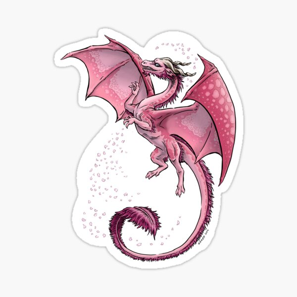 The Dragon of Spring Sticker