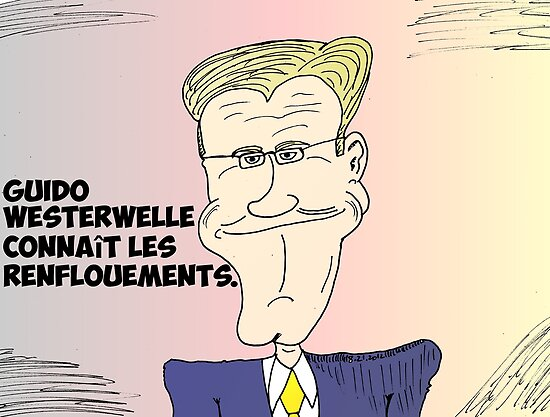 Caricature de Guido WESTERWELLE by Binary-Options