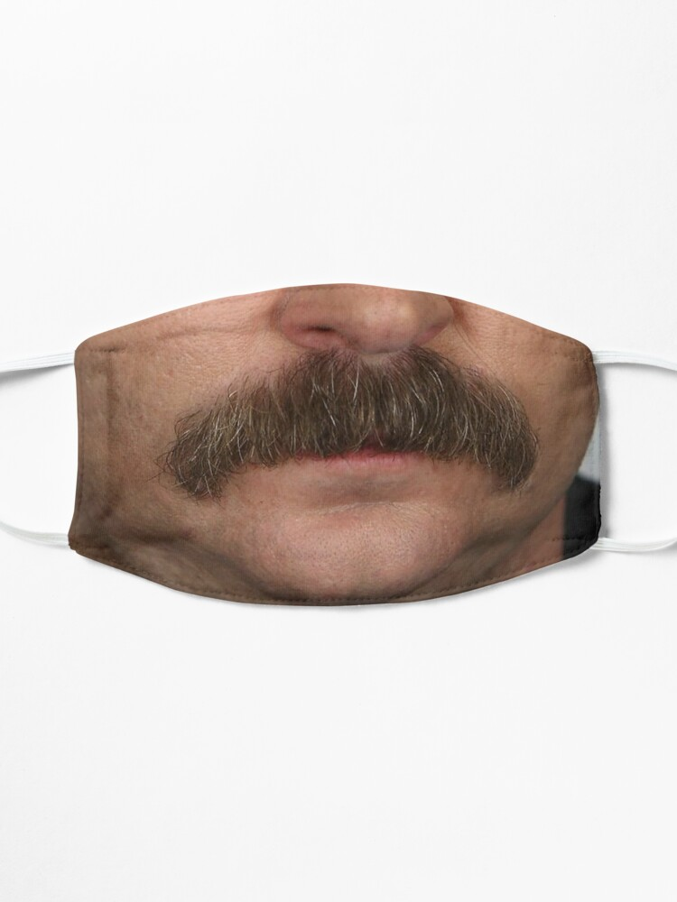 Alternate view of Ron Swanson Facemask Mask