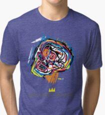 Jean Michel Basquiat Head Tri-blend T-Shirt