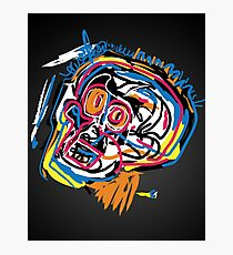 Jean Michel Basquiat Head Photographic Print