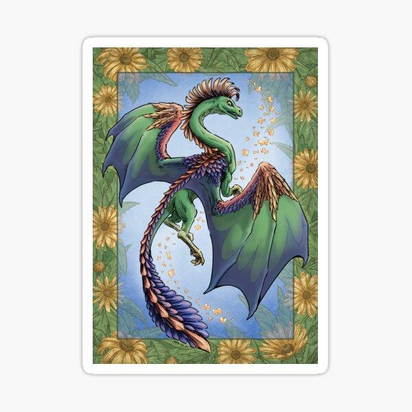 """The Dragon of Summer"" Sticker"