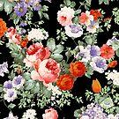 Colorful Assorted Flowers Digital Illustration by artonwear