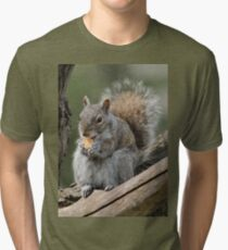Lunch time! (Gray squirrel) Tri-blend T-Shirt
