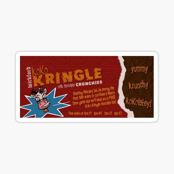 Nancy Drew Koko Kringle Milchschokolade Sticker