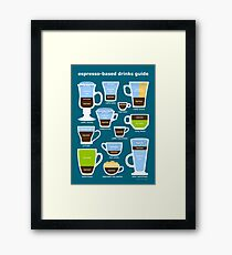 Espresso-Based Drinks Guide Framed Print