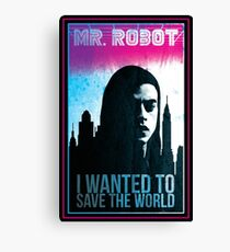 Mr. Robot retro Canvas Print