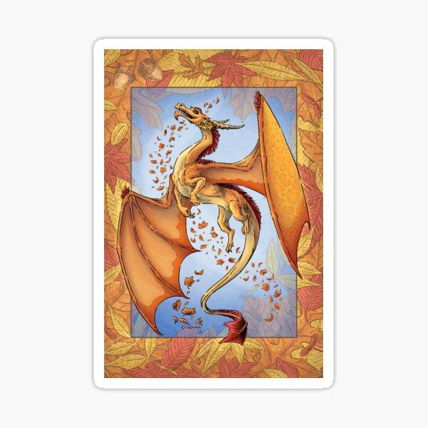 The Dragon of Autumn Sticker