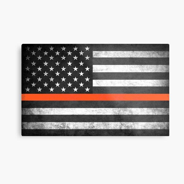 Thin Orange Line Metal Print