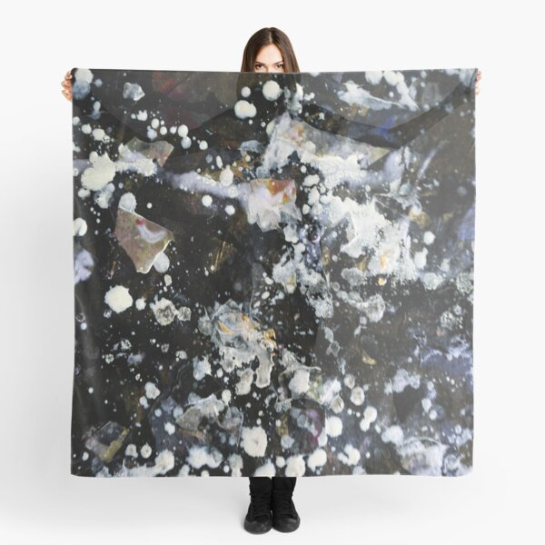 Silver Galaxy Abstract Art  Scarf