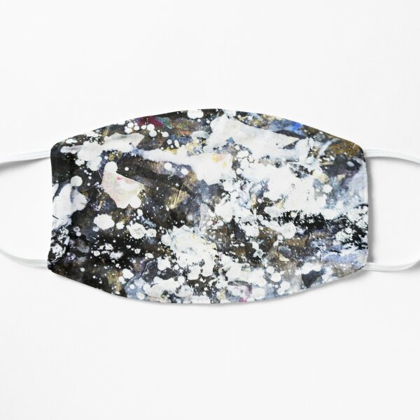 White Galaxy Abstract Art  Mask