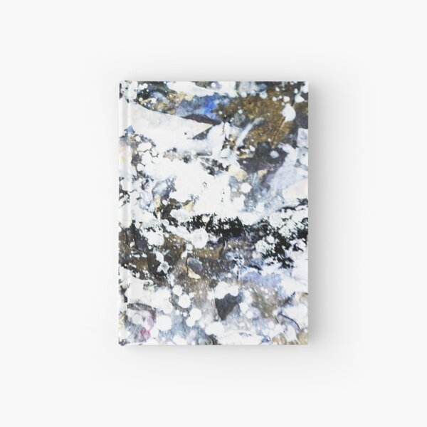 White Galaxy Abstract Art  Hardcover Journal