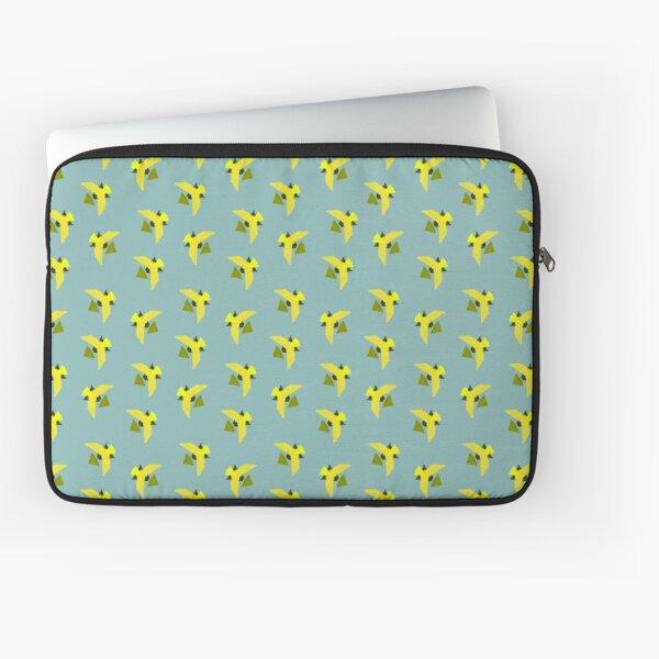 Yellow Geometric Birds pattern Laptop Sleeve