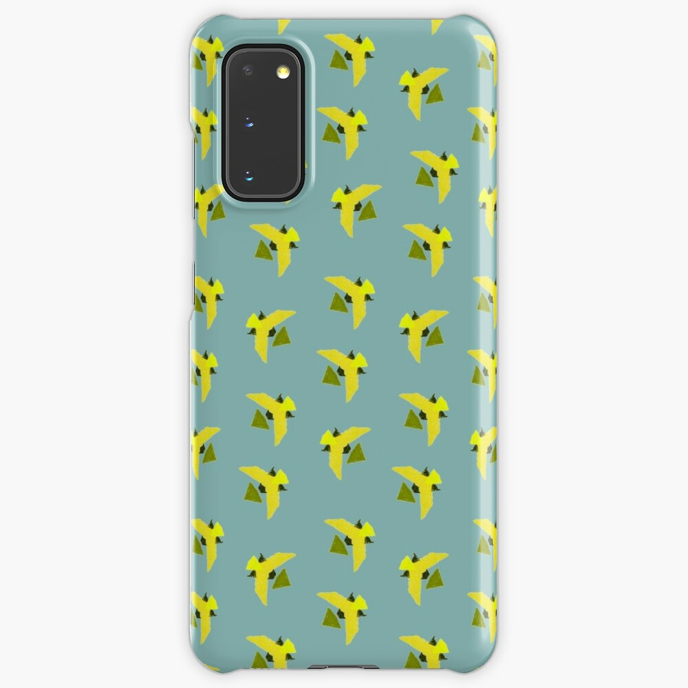 Yellow Geometric Birds pattern Case & Skin for Samsung Galaxy