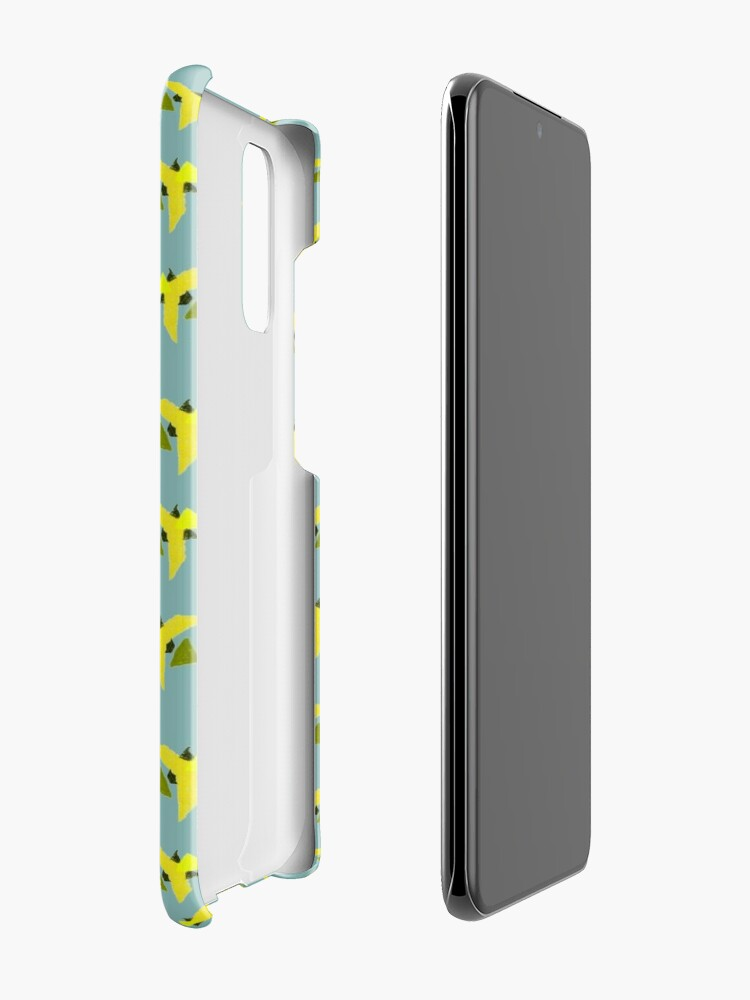 Alternate view of Yellow Geometric Birds pattern Case & Skin for Samsung Galaxy