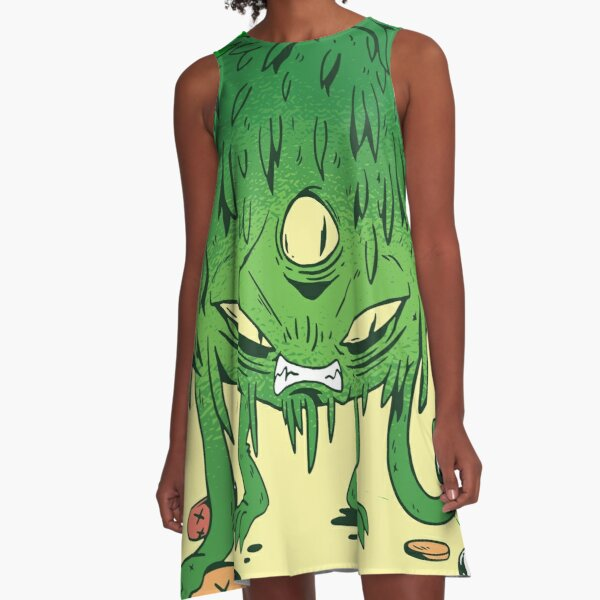 Coronavirus monster A-Line Dress