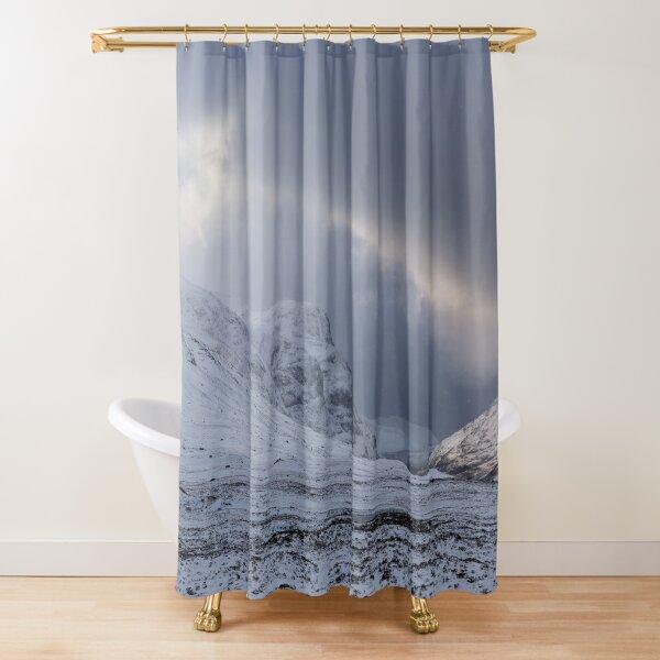 Glen Coe in Winter Scottish Highlands Shower Curtain