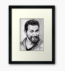 Richard Armitage, shining Framed Print