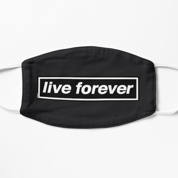 Live Forever (THE ORIGINAL & BEST!) - OASIS Band Tribute [Granite Grey] - MADE IN THE 90s Flat Mask
