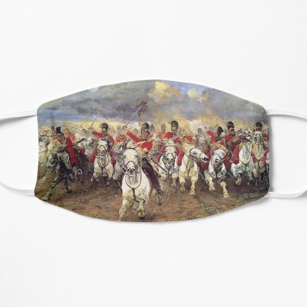 Scotland Forever! 1881, Battle of Waterloo, Lady Butler, Charge of the Royal Scots Greys Masque sans plis