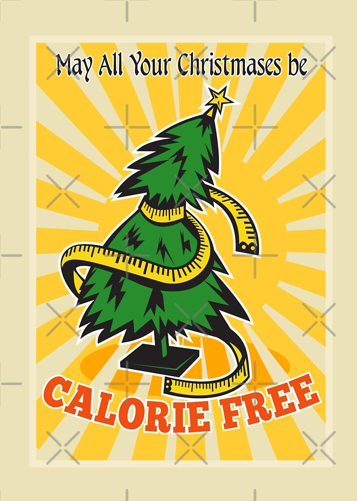 Calorie Free Christmas Tree Tape Measure by patrimonio