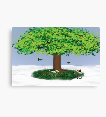 Oppisite Seasons Canvas Print