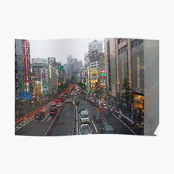 Tokyo in the Rain Poster