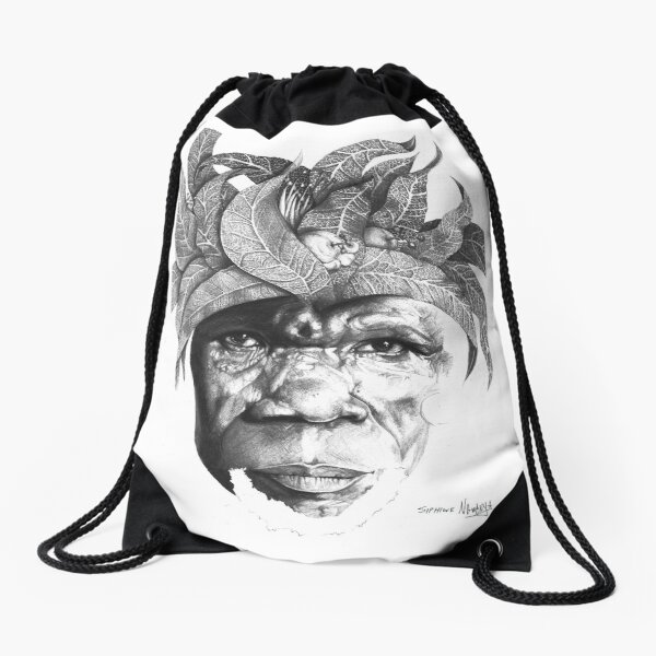 The Original Sunman - By Siphiwe Ngwenya Drawstring Bag