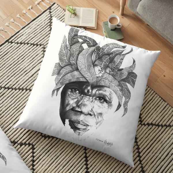 The Original Sunman - By Siphiwe Ngwenya Floor Pillow