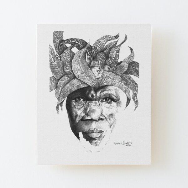 The Original Sunman - By Siphiwe Ngwenya Wood Mounted Print