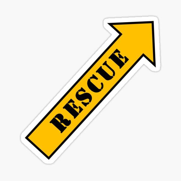 Mit diesem Symbol können Rettungskräfte den Schalter finden, um die Piloten aus schwierigen Situationen herauszuholen, in denen sich das Flugzeug am Boden befand. Jetzt können Sie Ihre Umgebung auf das hinweisen, was im Notfall wichtig und rettungswürdi Sticker