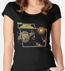Tie Rex and the Rebeldactyls Women's Fitted Scoop T-Shirt