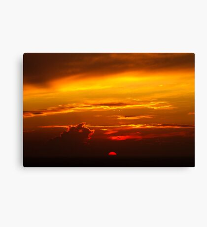 The Big Orange Ball of Fire Canvas Print