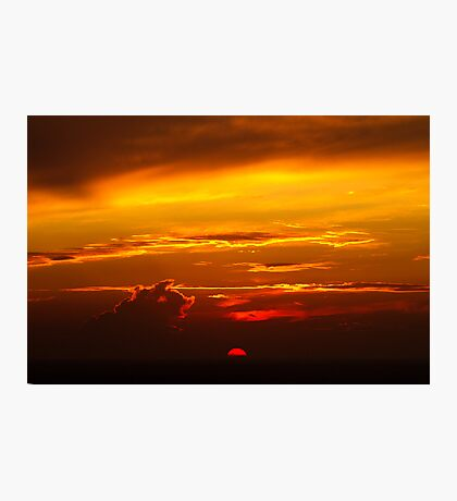 The Big Orange Ball of Fire Photographic Print