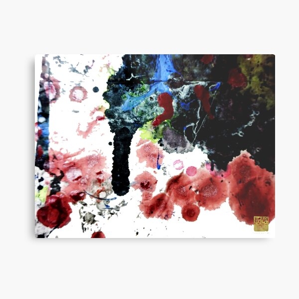 Chinese Oriental Contemporary Ink Abstract Art  Metal Print