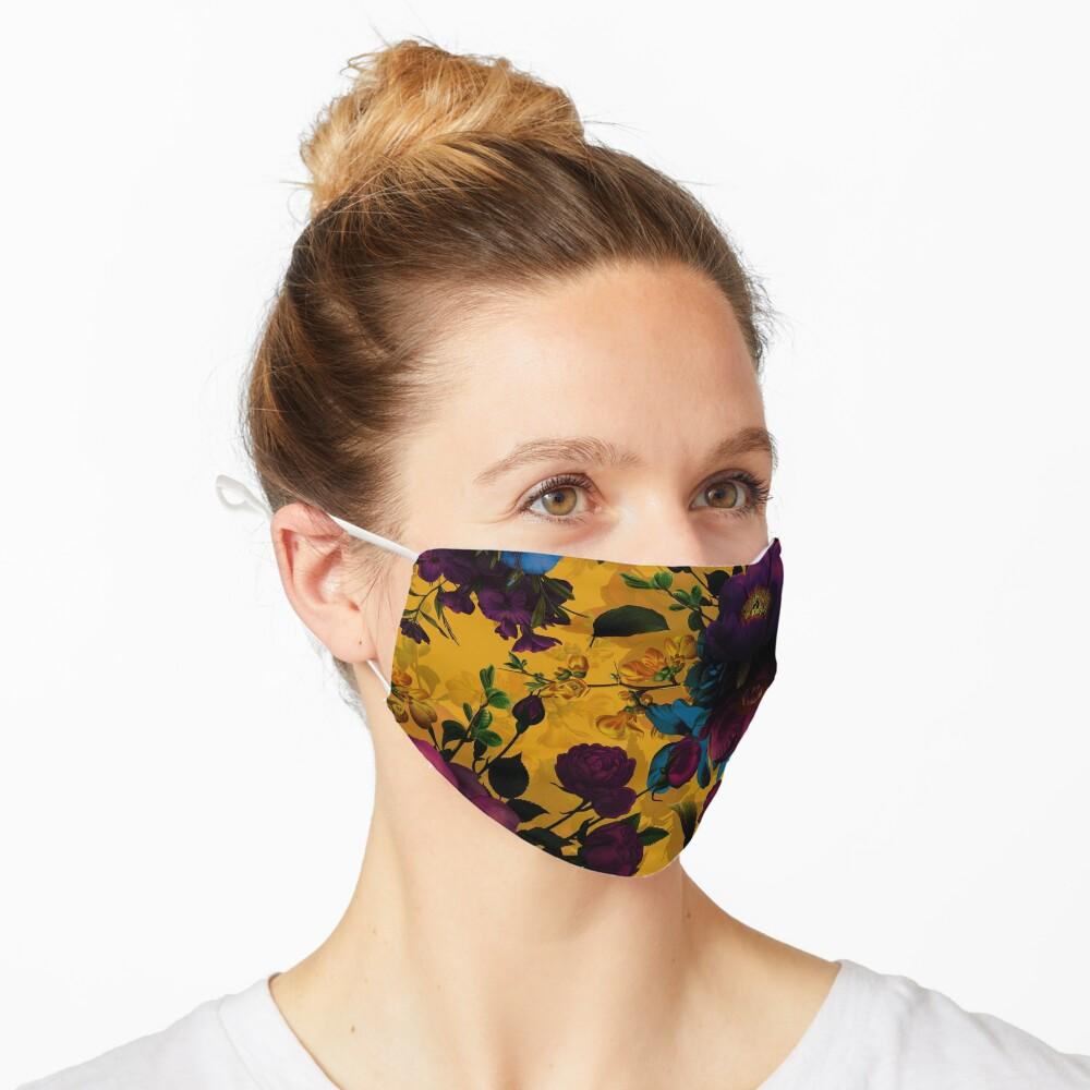 Moody florals - Mystic Night 8  Mask