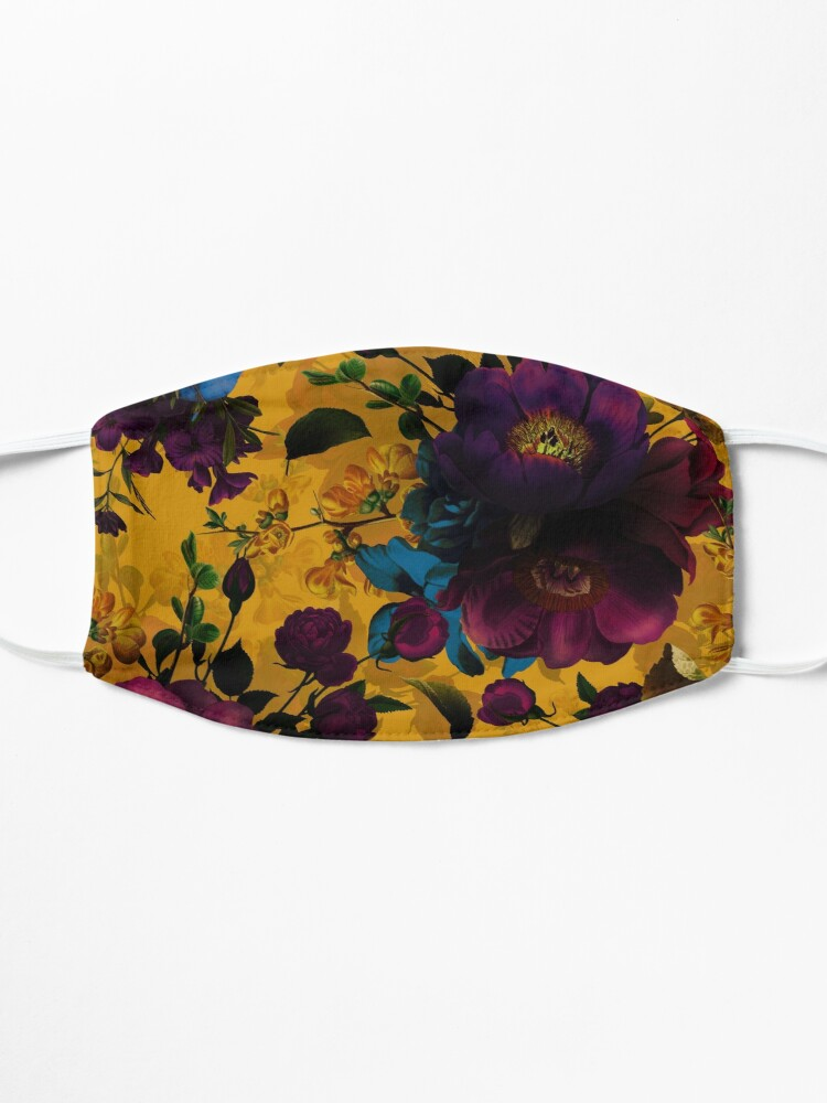 Alternate view of Moody florals - Mystic Night 8  Mask