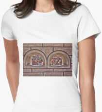 *•.¸♥♥¸.•* Framed Roof Tops Prague - PILLOW - TOTE BAG -PICTURE - CARDS*•.¸♥♥¸.•* Women's Fitted T-Shirt