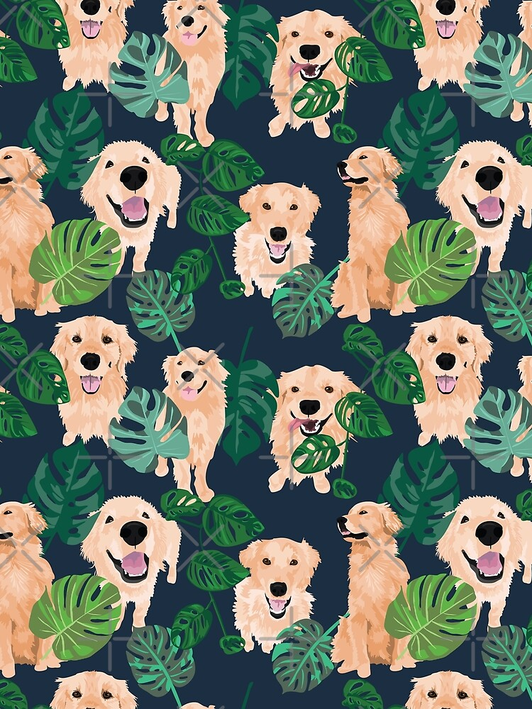 Golden Retrievers Tropical by ArtofACoonhound