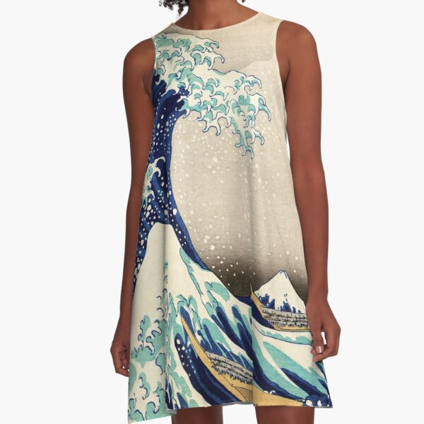 The Great Wave off Kanagawa by Hokusai A-Line Dress