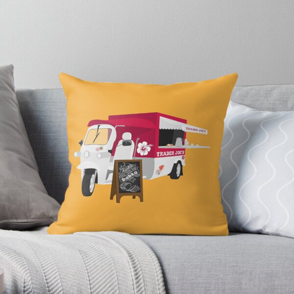 Trader joes food truck Throw Pillow