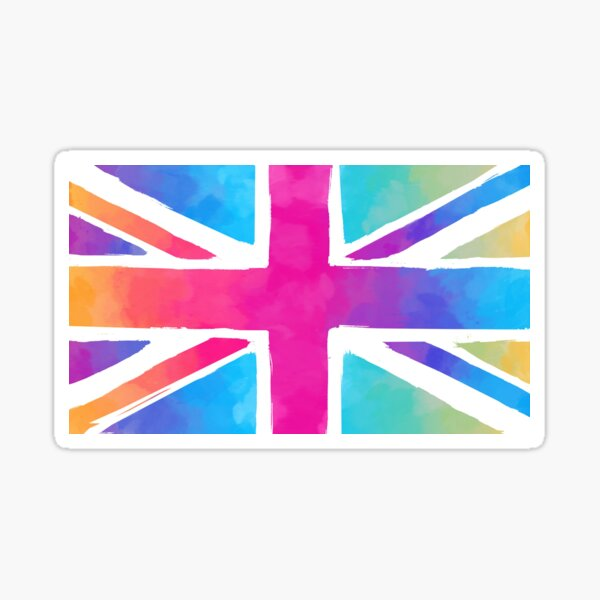 Union Jack Pastel Watercolour Sticker
