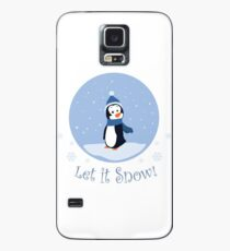 Let It Snow! (Penguin) Case/Skin for Samsung Galaxy