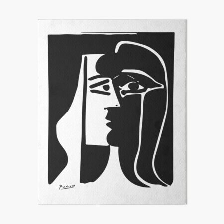 Pablo Picasso Kiss 1979 Artwork Reproduction For T Shirt, Framed Prints Art Board Print