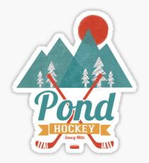 Retro Pond Hockey Sticker
