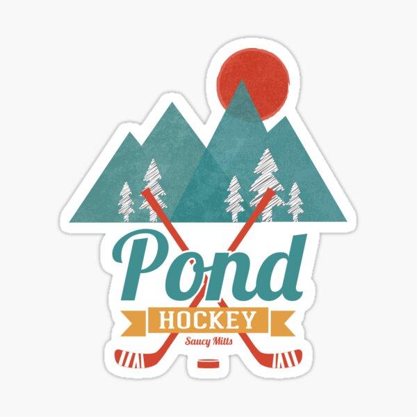 Retro Pond Hockey Sticker