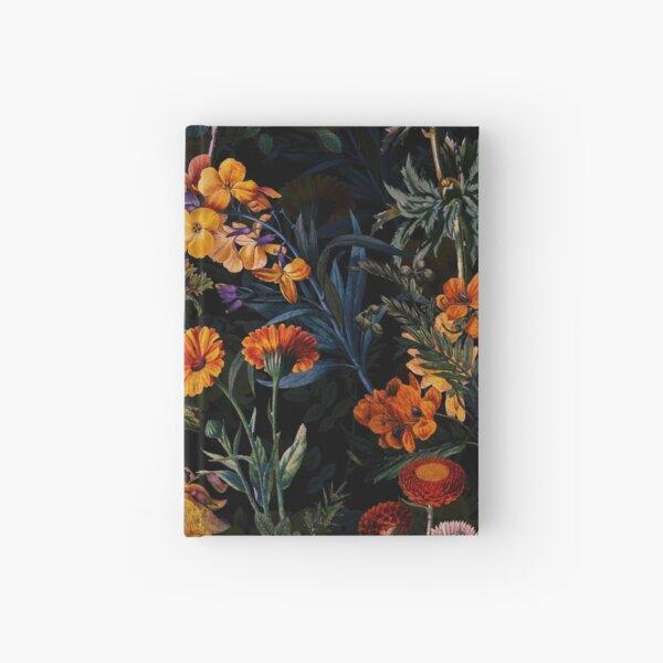Vintage Botanical Golden Night Garden Hardcover Journal