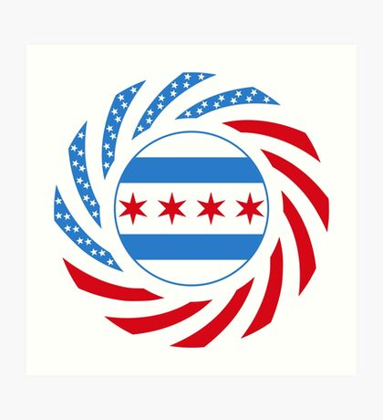 Chicago Murican Patriot Flag Series Art Print