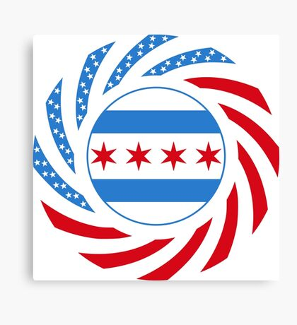Chicago Murican Patriot Flag Series Canvas Print