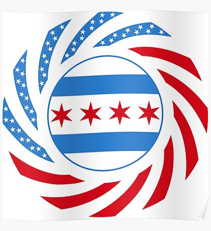 Chicago Murican Patriot Flag Series Poster